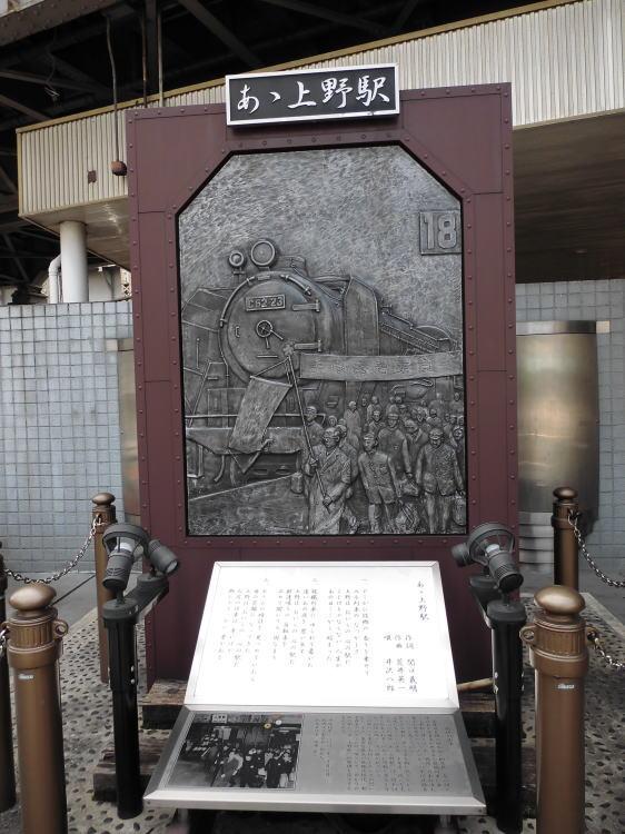あゝ上野駅 歌碑